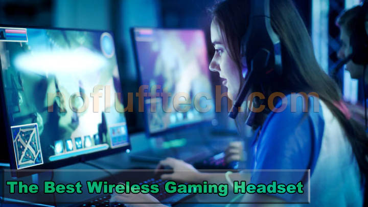 Girl wearing wireless gaming headset review